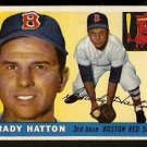 BOSTON RED SOX GRADY HATTON 1955 TOPPS # 131 EX/EM