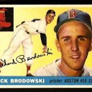 BOSTON RED SOX DICK BRODOWSKI 1955 TOPPS # 171 EX/EM