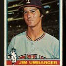 TEXAS RANGERS JIM UMBARGER 1976 TOPPS # 7 VG+/EX