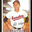 WASHINGTON SENATORS GIL HODGES 1967 TOPPS # 228 VG