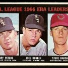 A.L. ERA LDR CHICAGO WHITE SOX GARY PETERS JOEL HORLEN CLEVELAND INDIANS STEVE HARGAN 1967 TOPPS 233