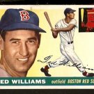 BOSTON RED SOX TED WILLIAMS 1955 TOPPS # 2 VG