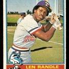 TEXAS RANGERS LEN RANDLE 1976 TOPPS # 31 Good