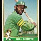 OAKLAND ATHLETICS BILL NORTH 1976 TOPPS # 33 EX
