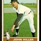 DETROIT TIGERS JOHN HILLER 1976 TOPPS # 37 VG