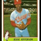CHICAGO WHITE SOX JESSE JEFFERSON 1976 TOPPS # 47 EX MT