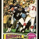 NEW YORK GIANTS JOHN HICKS 1975 TOPPS # 283 EX