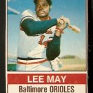 BALTIMORE ORIOLES LEE MAY 1976 HOSTESS # 98