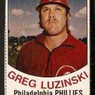 PHILADELPHIA PHILLIES GREG LUZINSKI 1977 HOSTESS # 25