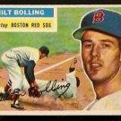 BOSTON RED SOX MILT BOLLING 1956 TOPPS # 315 EX/EX MT