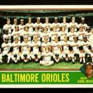 BALTIMORE ORIOLES TEAM CARD EARL WEAVER 1976 TOPPS # 73 VG+/EX PARTIALLY MARKED CL