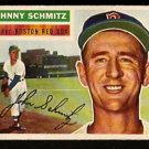 BOSTON RED SOX JOHNNY SCHMITZ 1956 TOPPS # 298 EX MT