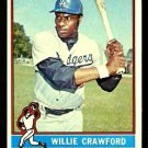 LOS ANGELES DODGERS WILLIE CRAWFORD 1976 TOPPS # 76 EM