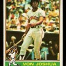 SAN FRANCISCO GIANTS VON JOSHUA 1976 TOPPS # 82 G/VG