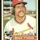 ST LOUIS CARDINALS MIKE TYSON 1976 TOPPS # 86 G/VG