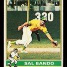 OAKLAND ATHLETICS SAL BANDO 1976 TOPPS # 90 VG