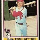 PHILADELPHIA PHILLIES TOM HUTTON 1976 TOPPS # 91 NR MT
