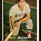 BOSTON RED SOX DICK GERNERT 1957 TOPPS # 202 EX/EM