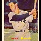 BOSTON RED SOX GENE MAUCH 1957 TOPPS # 342 EX/EM