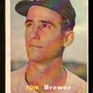 BOSTON RED SOX TOM BREWER 1957 TOPPS # 112 VG/EX