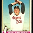 CALIFORNIA ANGELS DON KIRKWOOD 1976 TOPPS # 108 VG/EX