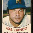 MILWAUKEE BREWERS SAL BANDO 1977 HOSTESS # 126