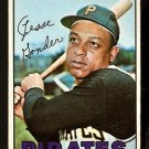 PITTSBURGH PIRATES JESSE GONDER 1967 TOPPS # 301 VG