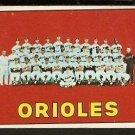 BALTIMORE ORIOLES TEAM CARD 1967 TOPPS # 302 good