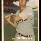 BOSTON RED SOX TED WILLIAMS 1957 TOPPS # 1 EM+