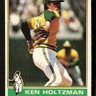 OAKLAND ATHLETICS KEN HOLTZMAN 1976 TOPPS # 115 good