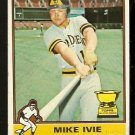 SAN DIEGO PADRES MIKE IVIE 1976 TOPPS # 134 VG