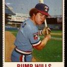 TEXAS RANGERS BUMP WILLS 1978 HOSTESS # 21