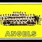 CALIFORNIA ANGELS TEAM CARD 1967 TOPPS # 327 EX
