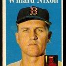 BOSTON RED SOX WILLARD NIXON 1958 TOPPS # 395 EM+/NM
