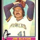MILWAUKEE BREWERS JIM SLATON 1976 TOPPS # 163 EX