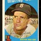 BOSTON RED SOX MURRAY WALL 1959 TOPPS # 42 NR MT