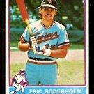 MINNESOTA TWINS ERIC SODERHOLM 1976 TOPPS # 214 VG/EX