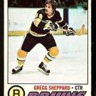 BOSTON BRUINS GREGG SHEPPARD 1977 OPC O PEE CHEE # 95
