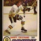 BOSTON BRUINS DARRYL EDESTRAND 1977 OPC O PEE CHEE # 321