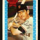 SAN FRANCISCO GIANTS DICK DIETZ 1971 KELLOGGS # 42 fair/good