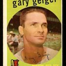 BOSTON RED SOX GARY GEIGER 1959 TOPPS # 521 VG
