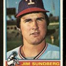 TEXAS RANGERS JIM SUNDBERG 1976 TOPPS # 226 good