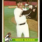 SAN FRANCISCO GIANTS MIKE SADEK 1976 TOPPS # 234 VG
