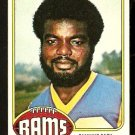 LOS ANGELES RAMS LAWRENCE McCUTCHEON 1976 TOPPS # 155 EX/EM