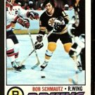 BOSTON BRUINS BOB SCHMAUTZ 1977 TOPPS # 59 VG/EX