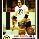 BOSTON BRUINS GILLES GILBERT 1977 TOPPS # 125 VG