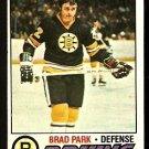 BOSTON BRUINS BRAD PARK 1977 TOPPS # 190