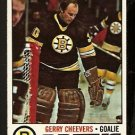 BOSTON BRUINS GERRY CHEEVERS 1977 TOPPS # 260 EM/NM