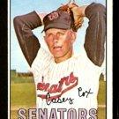 WASHINGTON SENATORS CASEY COX 1967 TOPPS # 414 NR MT
