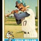 NEW YORK METS FELIX MILLAN 1976 TOPPS # 245 VG